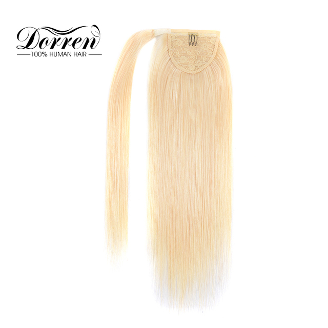 Doreen Hair European Machine Made Remy 100% Natural Human Hair Ponytail Extensions Long inch Pony tail Hairpieces 14 to 26 100g