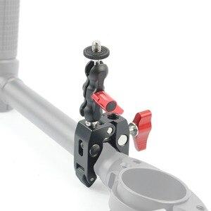 Image 5 - אלומיניום מתכוונן קסם זרוע עם קטן Ballhead + קליפ סופר קלאמפ עבור מצלמה צג/LED אור תמיכה עם 1/4 בורג