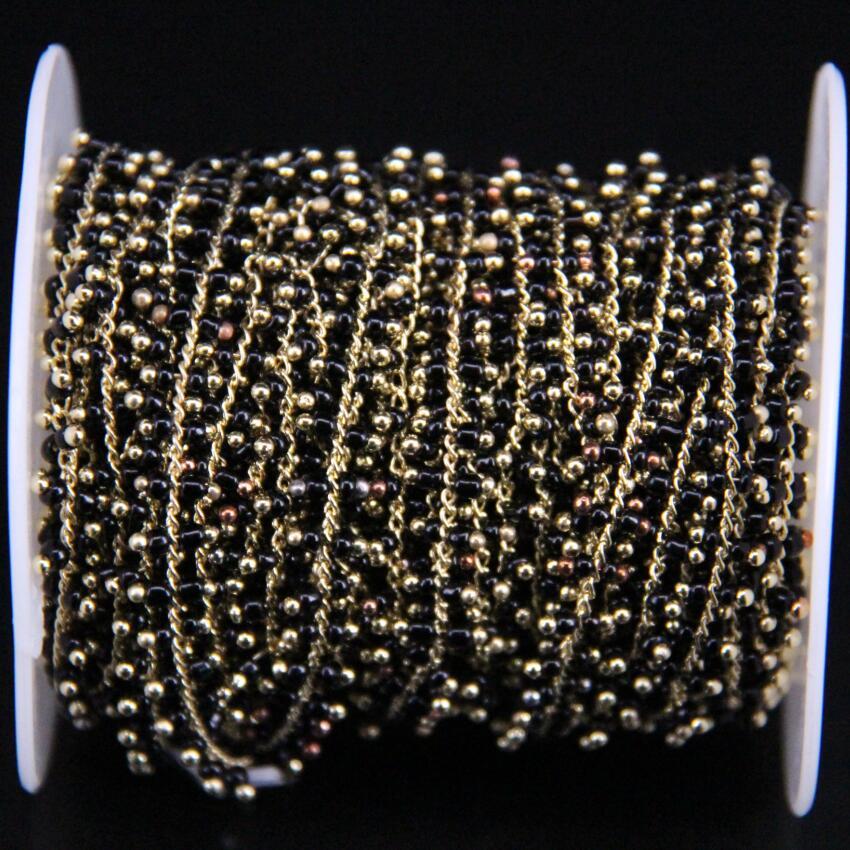 5 Meter, 2mm, Black Cube Perlen Link Messing Draht Gewickelt Kette ...