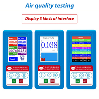 12 in1 English menu Formaldeyde HCHO PM1.0 PM2.5 PM10 Gas Analyzer TVOC Particles Detector Meter Tester Air Quality Analyzer