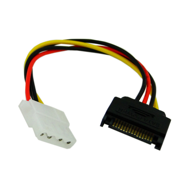 serial ATA SATA 15 Pin male to 4 pin IDE female Power supply short Cable connector 10cm Power for 1.8 2.5 Hard Disk Drive HDD