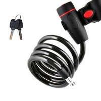 Anti-Theft Bike Bicycle Lock 100cm Bike Steel Cable Lock With 2 Keys Bike Motorcycle Security Locks Durable Bicycle Accessories