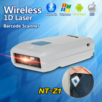 Free Shipping NT Z1 Portable Wireless Laser Bluetooth Barcode Scanner Pocket 1D Barcode Reader For IPad