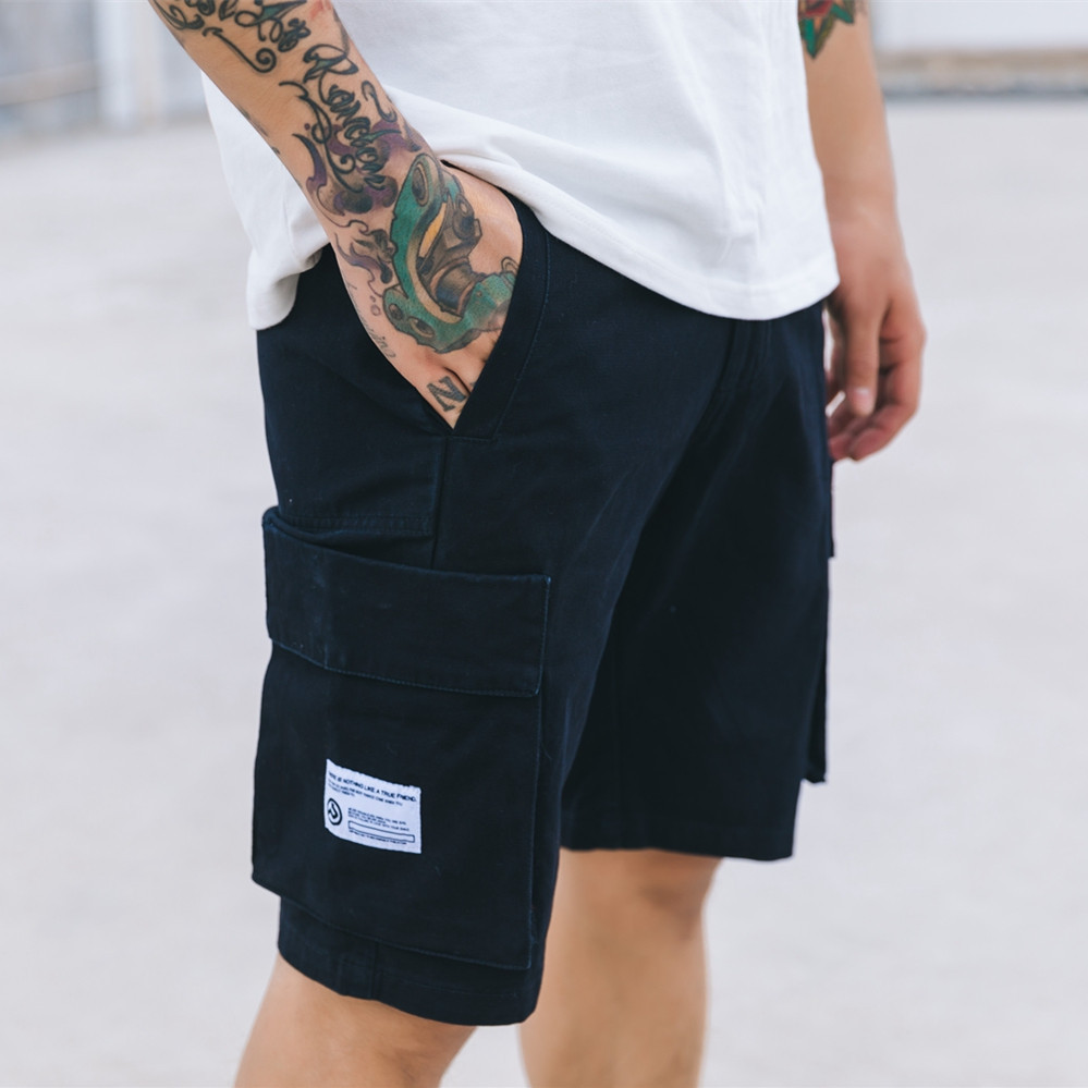 VEGORRS Mens straight casual shorts male cargo shorts 2018 men shorts cotton summer new style