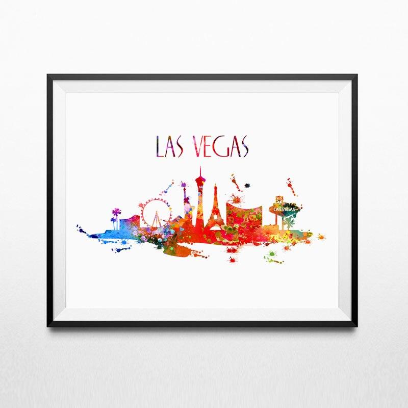 Aliexpress.com : Buy Las Vegas Skyline Silhouette