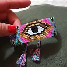 Женский браслет shinusboho модный со злом и глазами miyuki Ювелирное