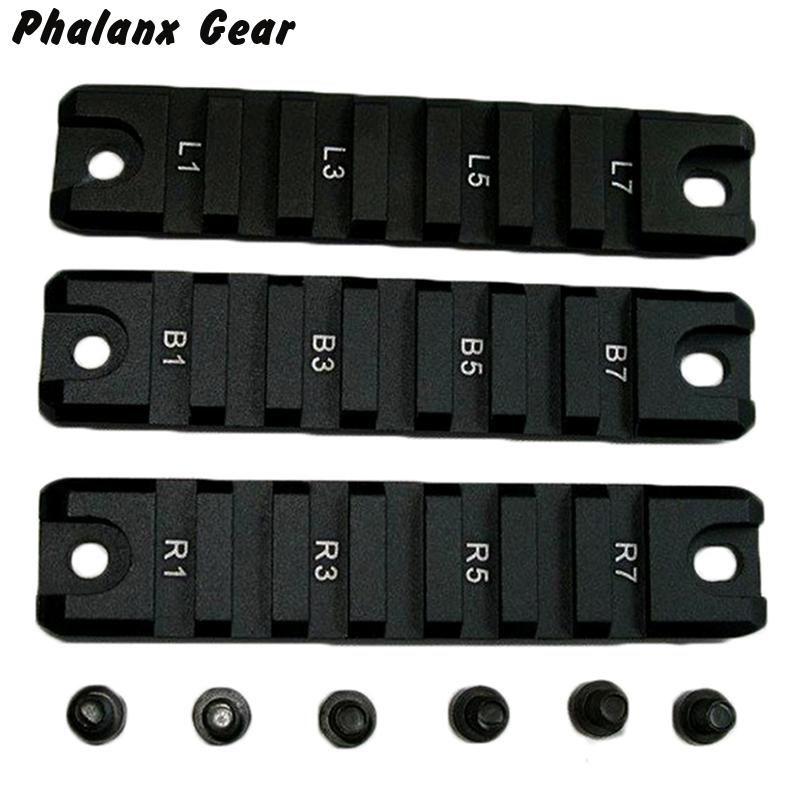 7 Slot 3 pieces Tactical RIS race 20 mm Weaver Picatinny <font><b>Rail</b></font> set for <font><b>G36</b></font> G36C Bolt-on Military Gear Equipment Hunting Accessor image