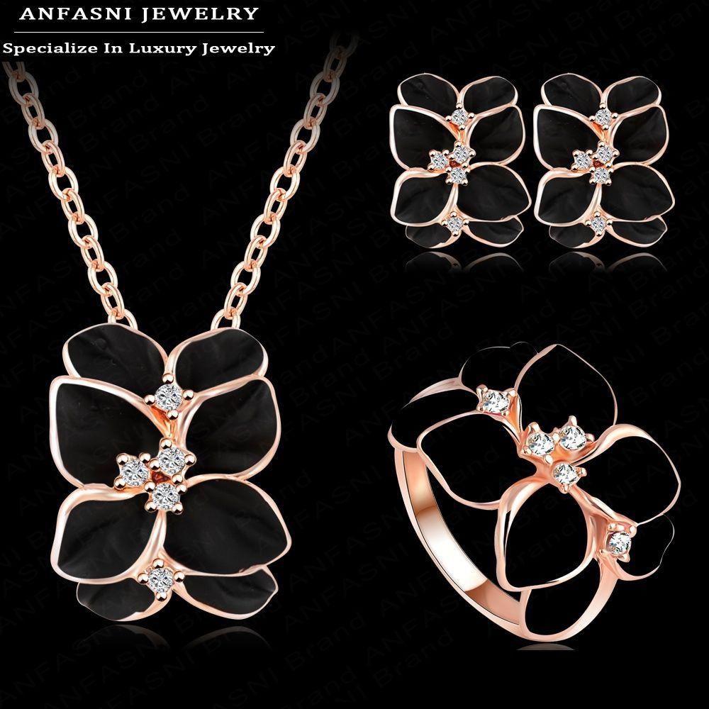 ANFASNI Jewelry Set Rose Gold Plate Austs