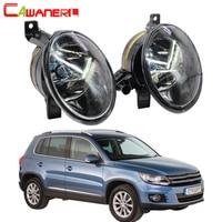 Cawanerl For Volkswagen Tiguan 100W Car Fog Light 9006 HB4 Halogen Lamp Daytime Running Light DRL 12V 2012 2013 2014 2015 2016