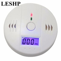 LESHP Home Security 85dB Warning High Sensitive Alarm LCD CO Gas Sensor Independent Carbon Monoxide Poisoning