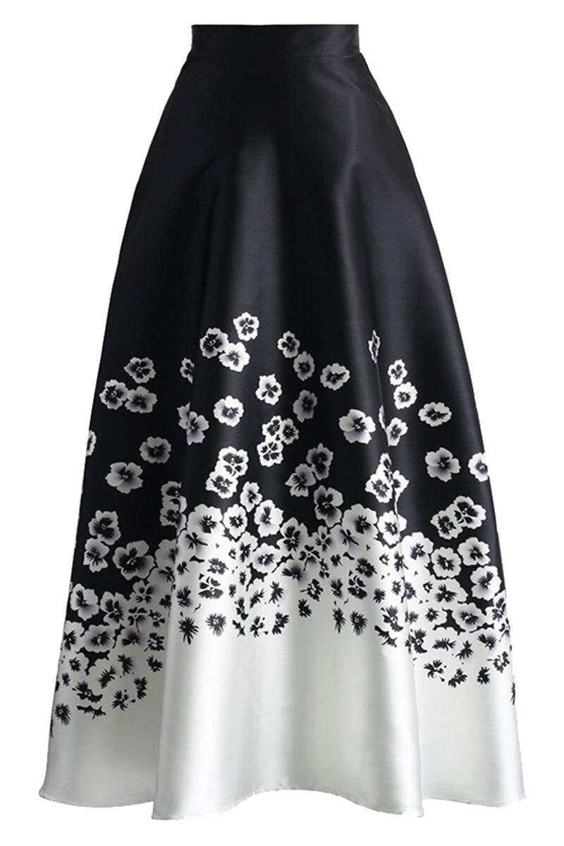 Monochrome-Floral-Print-High-Waist-Maxi-Skirt-LC65017-1-2