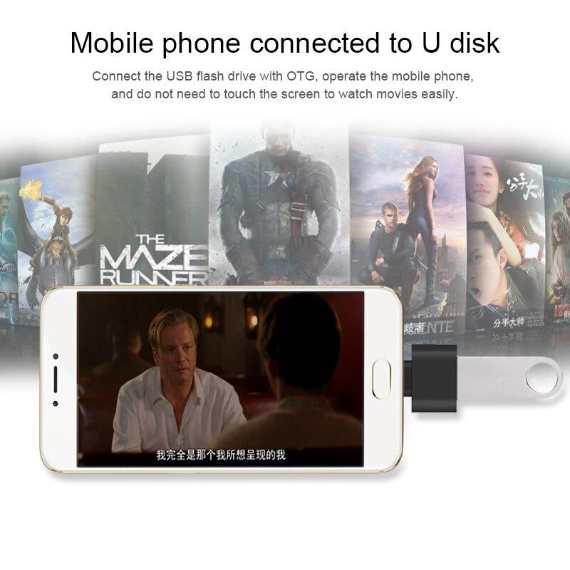 Флеш-накопитель USB 3,0 OTG к Type-C Шнур адаптер для Samsung S9 Huawei Xiaomi Mi 8 Leeco Oneplus телефон конвертер адаптер для мыши OTG