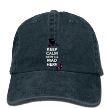 1c6212cee1a hip hop Baseball caps Men hat Keep Calm Were All Mad Here Alice in Wonderland  Alice