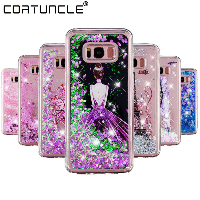 S8 Plus Case on For Fundas Samsung Galaxy S8 Case Silicone Liquid Glitter Soft TPU Phone Cases For Coque Samsung S8 Plus Cover(China)