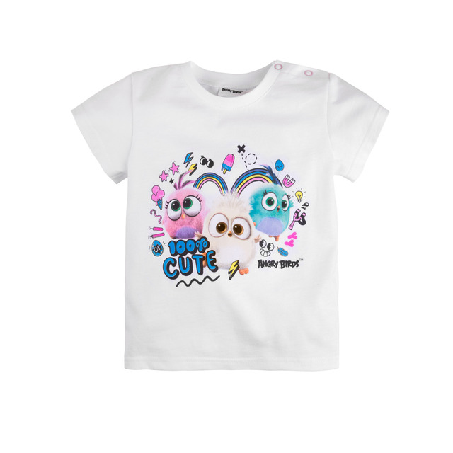 Футболка для девочки 'Angry Birds' BOSSA NOVA 261АБ-151