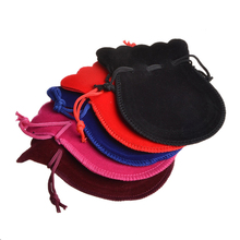 hot deal buy 50pcs 7x9cm 9x12cm small gourd velvet bag jewelry packaging display for packing gifts drawstring bags pouch wedding/christmas