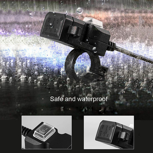 Image 5 - Newdesign Dual USB Port 12V Waterproof Motorbike Motorcycle Handlebar Charger 5V 2A Adapter Power Supply Socket for Phone Mobile