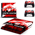 Football Club Spartak Moscow PS4 Skin Sticker For Sony Playstation 4 PS4 Console protection film and Cover Decals 2 Controller