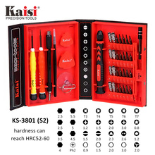 Kaisi 38 in 1 S2 Chrome Vanadium Steel Disassemble Household Tools Precision Screwdriver Set For Phone iPhone iPad Mac Computer kaisi k p3024a 24 in 1 screwdriver set