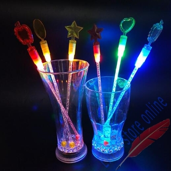 100 Uds luz LED Swizzle palos de cóctel palos Bar de moda herramientas agitadores de la bebida