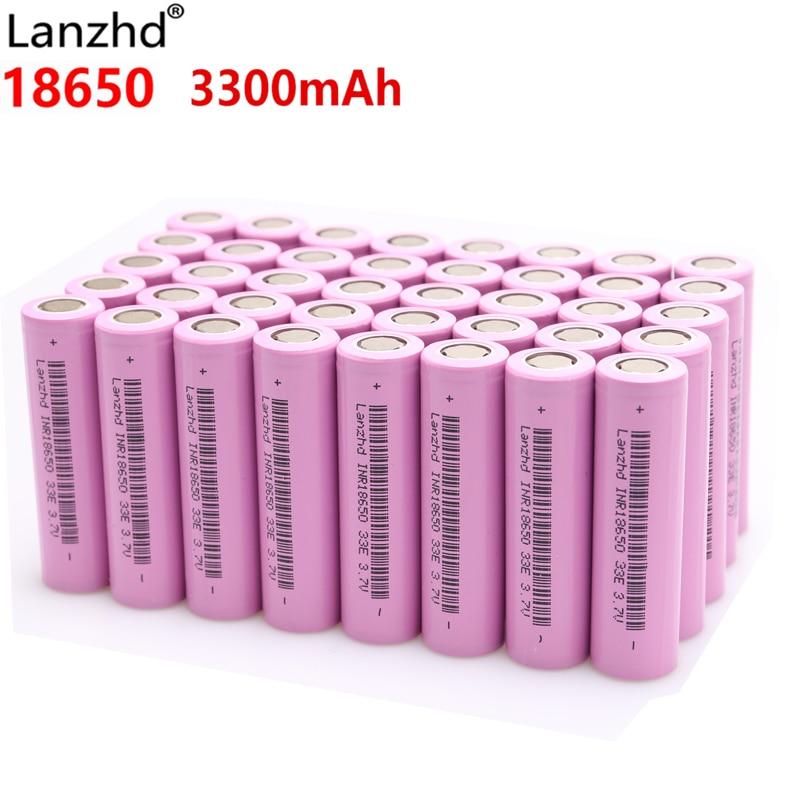 Lanzhd аккумуляторные батареи 18650 литий ионный аккумулятор 3,7 В 3300 мАч INR18650 литий ионный 18650 30A 18650VTC7 18650 (5 40 шт) Перезаряжаемые батареи      АлиЭкспресс