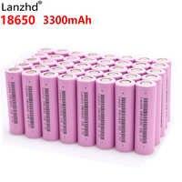 Lanzhd Batteries rechargeables 18650 batterie Li ion 3.7 V 3300 mAh INR18650 lithium Li-ion 18650 30A 18650VTC7 18650 (5-40 pièces)