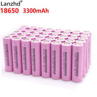 Lanzhd baterías recargables 18650 batería Li ion 3,7 V 3300 mAh INR18650 litio Li-ion 18650 30A 18650VTC7 18650 (5 -40 piezas)