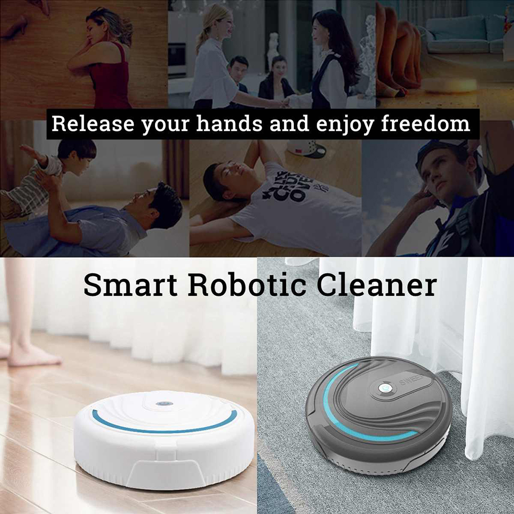 New Floor Sweeping Robot Intelligent Automatic Induction Turn Cleaning Sweeping Dust Collector Household Cleaning Tools