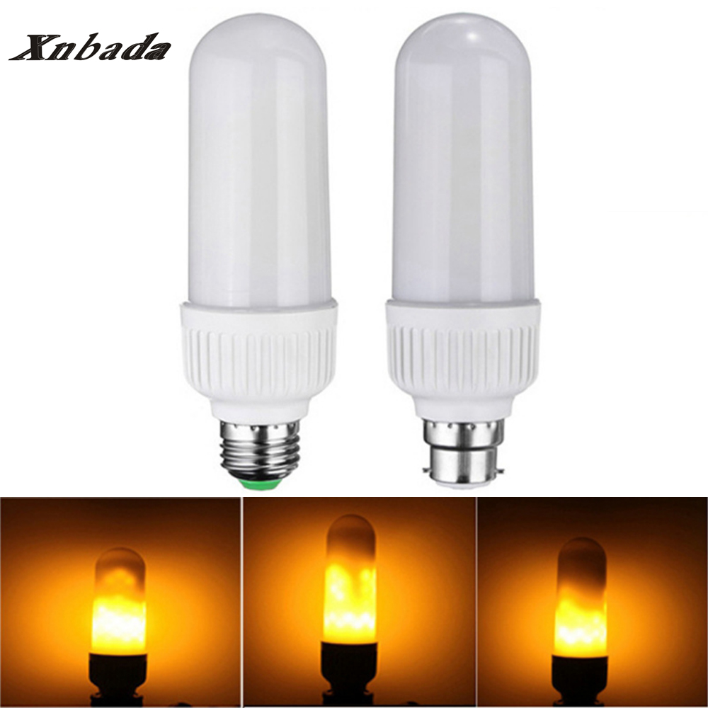 5W 2835 SMD B22 E27 LED Lamp 1800K Yellow Flickering Flame Fire LED Corn Bulb Light AC85-265V Free shipping