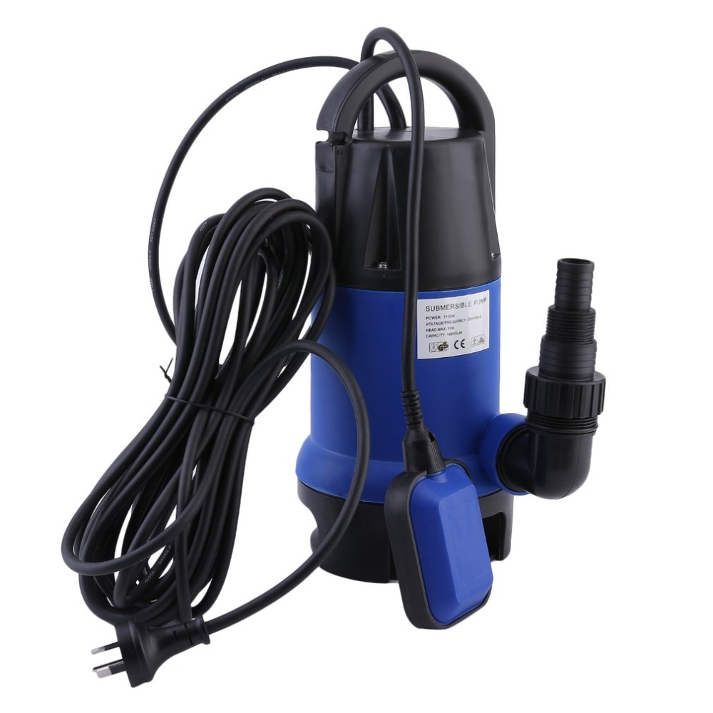AU Plug 1100W Heavy Duty Electronic Submersible Dirty Water Pump Bore Sewage Septic Sewerage Tank 16500L/h For Pool Pond submersible sewage pump high capacity non clog sewage submersible pump septic tank pump for sale