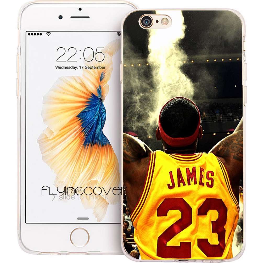 19e7c8a1f72 Coque LeBron James NBA Clear Soft Silicone Phone Cases for iPhone XS Max XR  X 7 8 6 6S Plus 5S 5 SE 5C 4S 4 iPod Touch 6 5 Cover