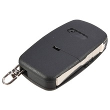 2 BUTTON FOLDING FLIP REMOTE KEY BLANK FOB CASE SHELL PAD FOR AUDI A2 A3 A4