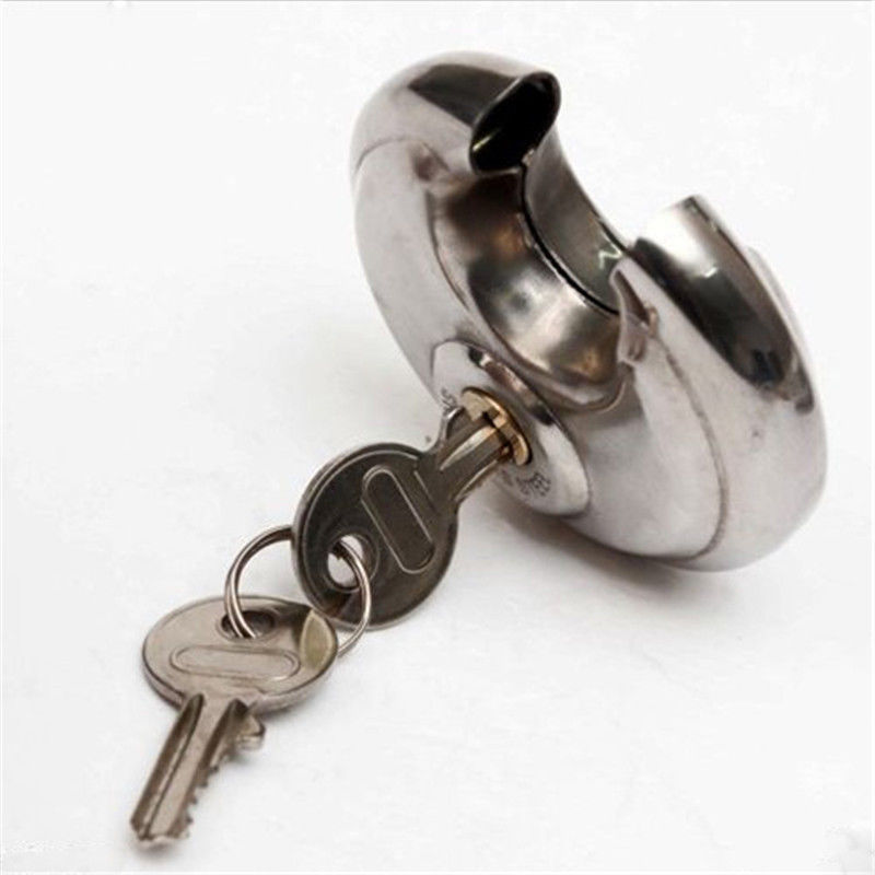 1PC 70mm Round Lock Cute Duty Stainless Steel Armor Brass Cylinder Disc Padlock