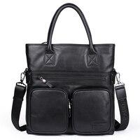 PABOJOE 2018 Для мужчин Повседневное Портфели Бизнес сумка кожаная Курьерские сумки компьютер, ноутбук сумка Для мужчин с дорожные сумки