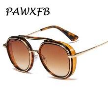 PAWXFB Fashion Women Round Sunglasses For Men Brand Design Sun Glasses Summer Shades