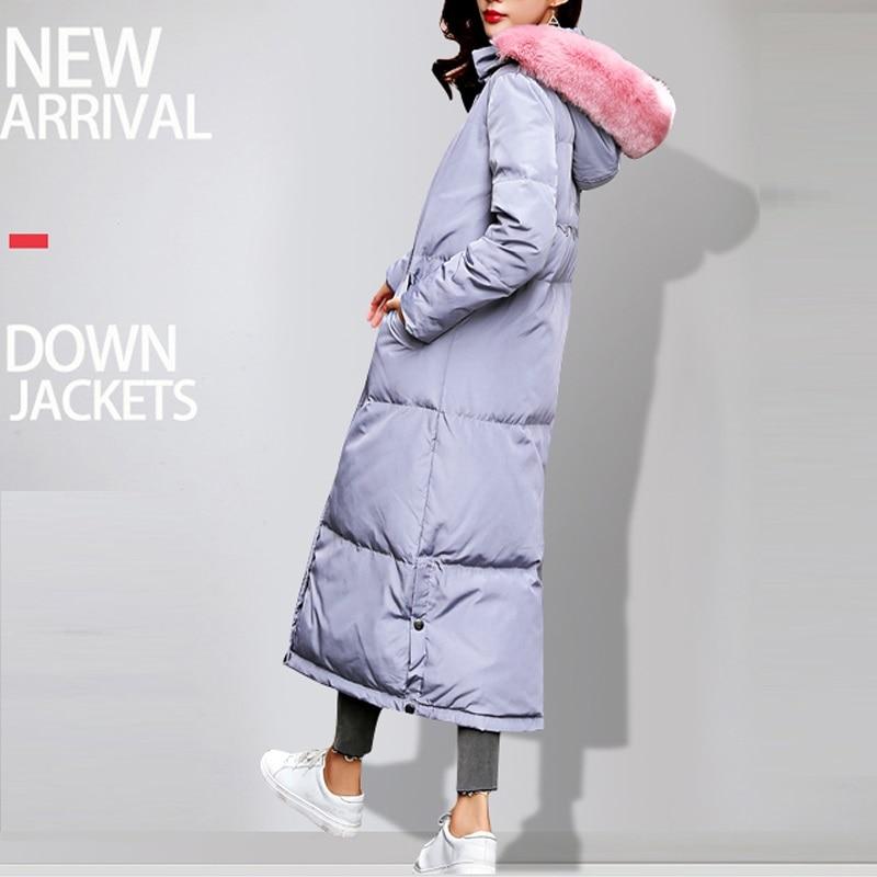Winter   Coats   High Quality   Coat   2017 Female Long Winter jacket Women Thicken Warm Cotton-Padded   Down   Parkas   Coat   Faux Fur Collar