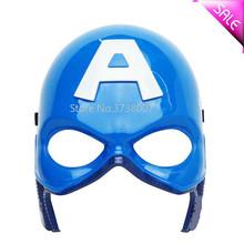 Wholesale Halloween PVC Cosplay US Captain Bule Mask Props The Avengers America Steven