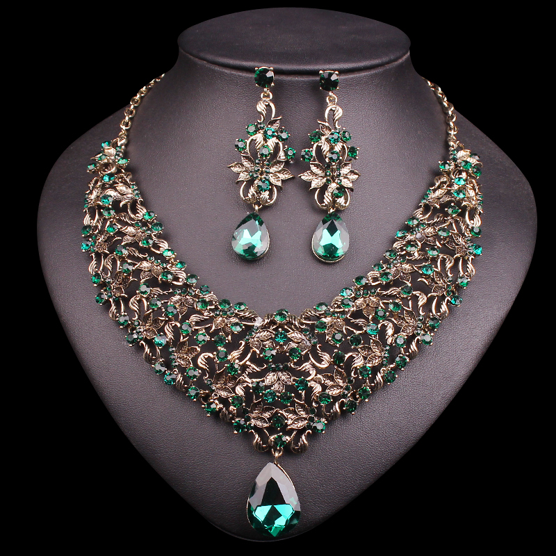 Aliexpress.com : Buy Fashion Necklace Earring Sets Vintage ...