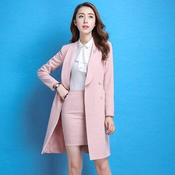 Custom women's long section elegant suit skirt women's business formal suit women's suit two-piece suit (jacket + skirt)