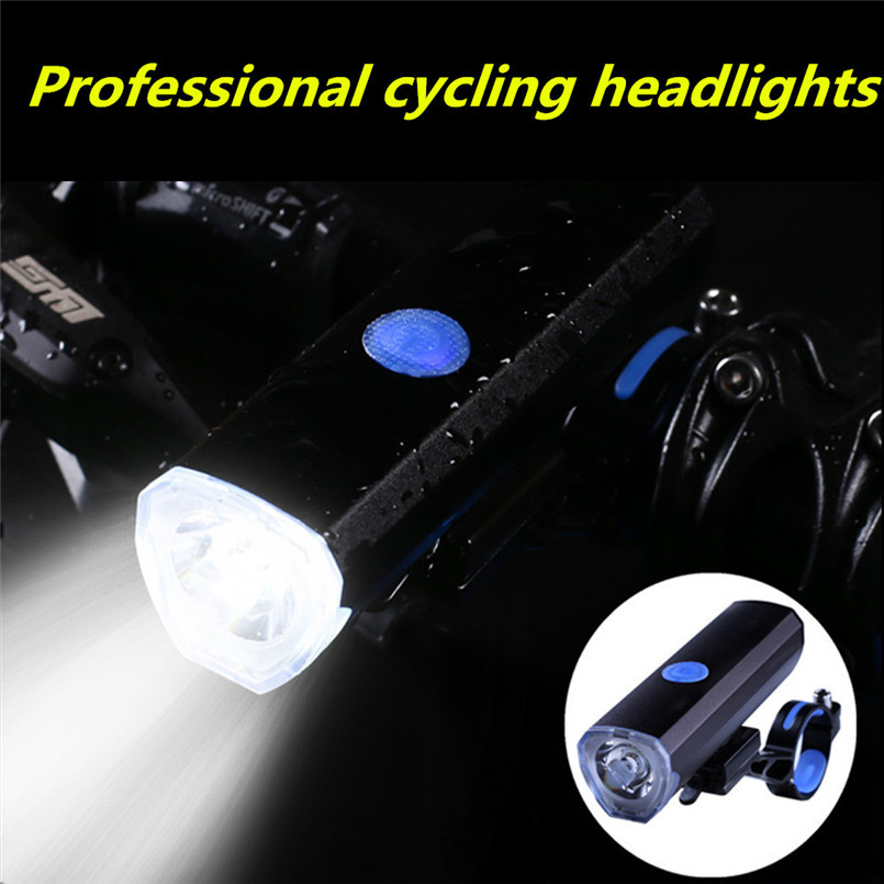 Rechargable USB Bicycle Headlight 300LM IP55 Waterproof Aluminum Alloy Multicolor Bright Bike light for Handlebar drop shipping aluminum alloy bicycle water drop headset black blue