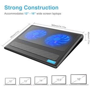 Image 3 - TeckNet Đế Làm Mát Laptop Xách Tay Đứng 2 Quạt Làm Mát Phù Hợp Với 9  16 Inch Cho Laptop Máy Tính USB Quạt tấm Làm Mát