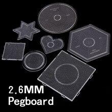 7 نوع اختيار 2.6 مللي متر perler PUPUKOU الخرز قالب ل حماة الخرز لتقوم بها بنفسك لعبة لتقوم بها بنفسك التعليمية لغز beadbond