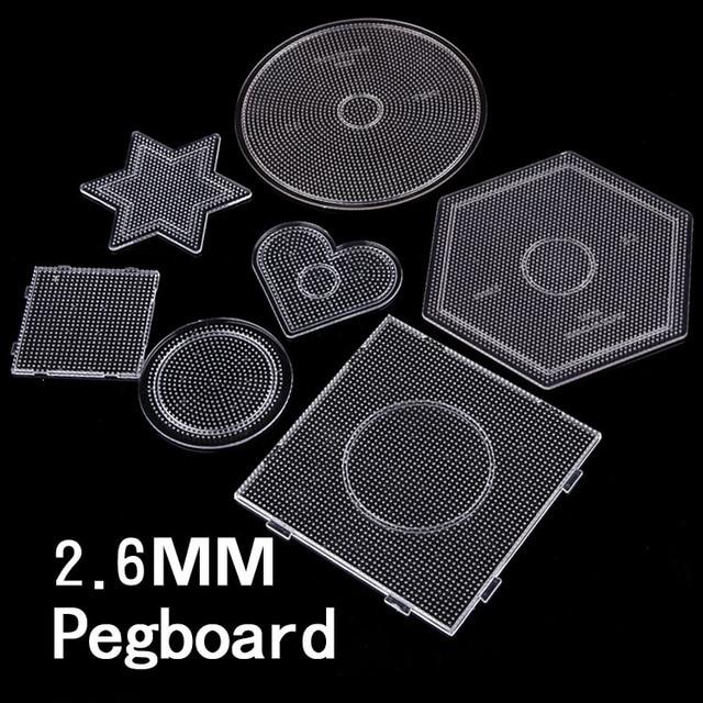 7 סוג בחירת 2.6mm perler PUPUKOU חרוזים תבנית hama חרוזים diy צעצוע DIY חינוכיים פאזל beadbond