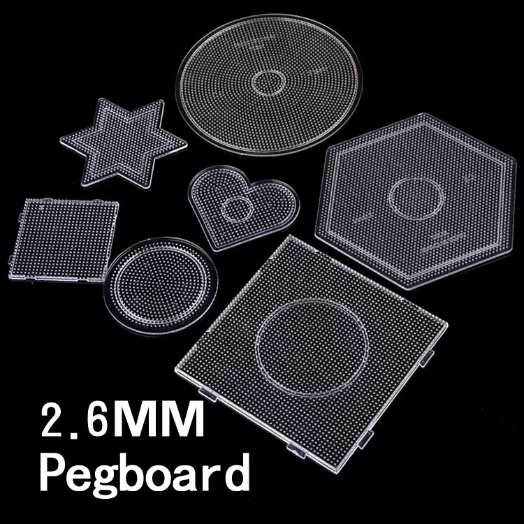 7 type selection 2.6mm perler beads pegboards for hama beads diy toy DIY educational puzzle beadbond template(China)