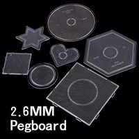 Seleção do tipo de 7 2.6 milímetros contas perler pegboards para contas hama diy enigma brinquedo educativo DIY modelo beadbond