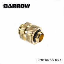 Barrow Gold ,White, Black ,Silver G1/4 Male to Male Connector,16~22mm double gpu block connect fittings ,VGA adapter,TSSXK-S01(China)