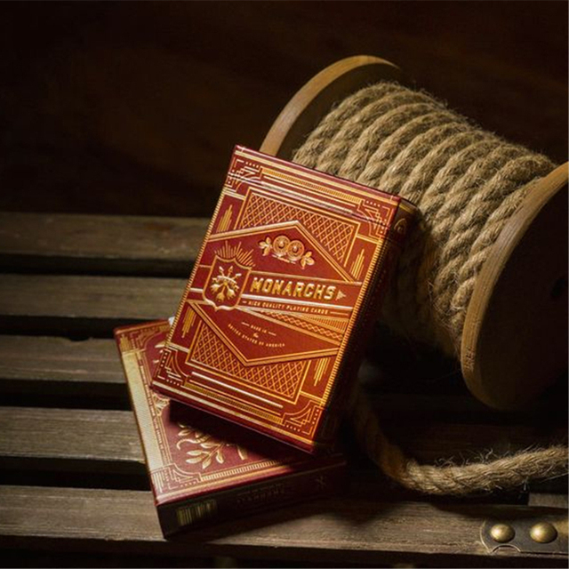 1 Deck of T11 RED Monarch  Playing Cards red Edition Monarch Deck by Theory11 Magic Tricks props magic cards 81241