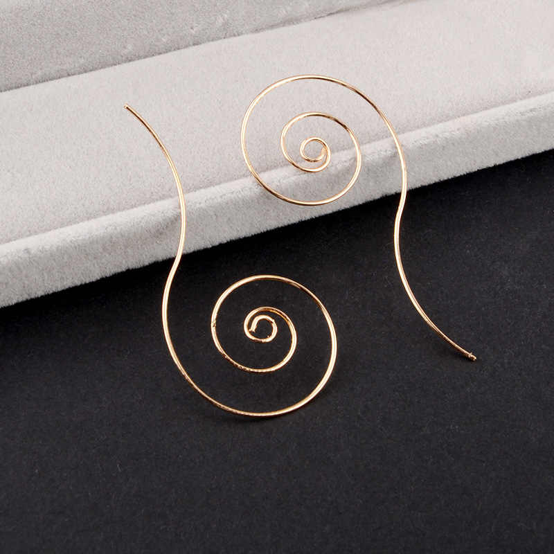 แฟชั่นวงกลมโลหะเกลียวหูผู้หญิง's Gold และ Silver Alloy เครื่องประดับไนท์คลับแหวน multi - layer ต่างหูสำหรับผู้หญิงของขวัญ