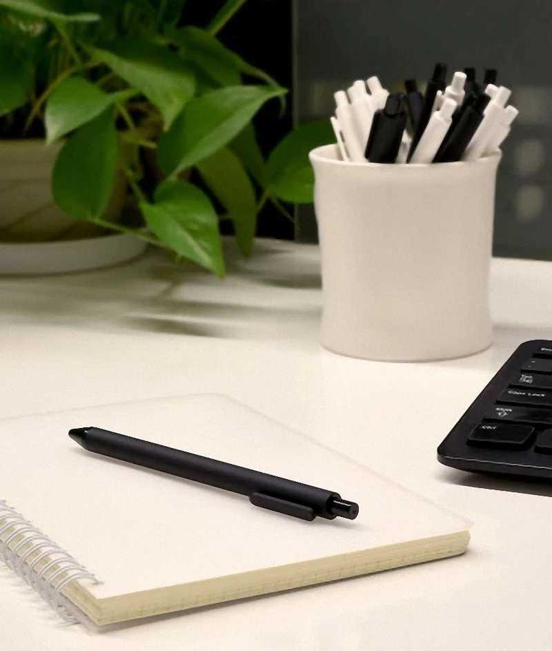10 pz/set Originale Xiaomi Norma Mijia Kaco Penna del Gel 0.5 millimetri Penna Firma Penna KACO Core Durevole Firmare Penna Refill Nero inchiostro + Kaco Ricariche