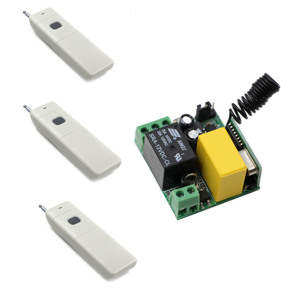 AC 220V Wireless Remote Control Switch Remote ON OFF 1CH 10A Relay Radio Light Switch Receiver 3000M Long Range Transmitter купить в Москве 2019